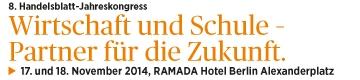 8. Handeslblatt-Jahreskongress Wirtschaft und Schule