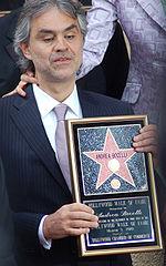 Andrea Bocelli erhält Hollywood Walk of Fame Stern (März 2010)