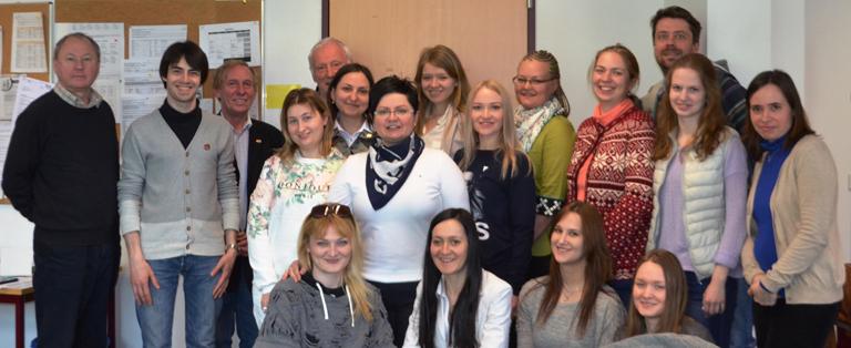 Gäste aus Moskau im Institut