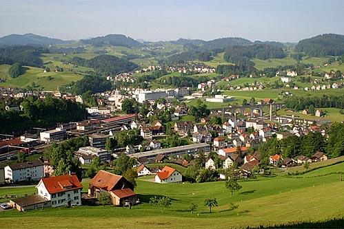 Herisau im Kanton Appenzell Ausserrhoden (Schweiz)